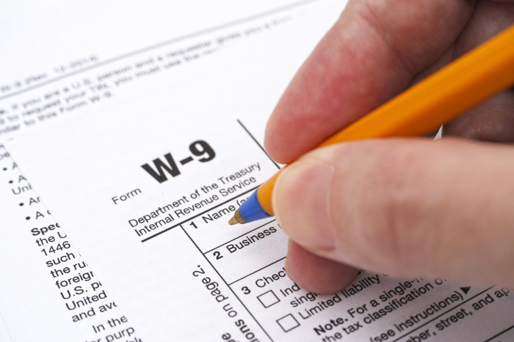 W9 Form tax preparation